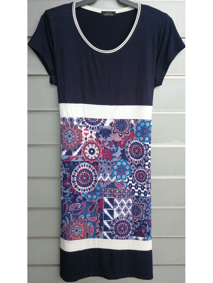 vestido combinado V0751