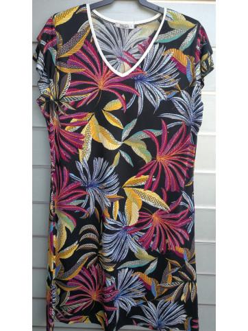 vestido doble manga v7002