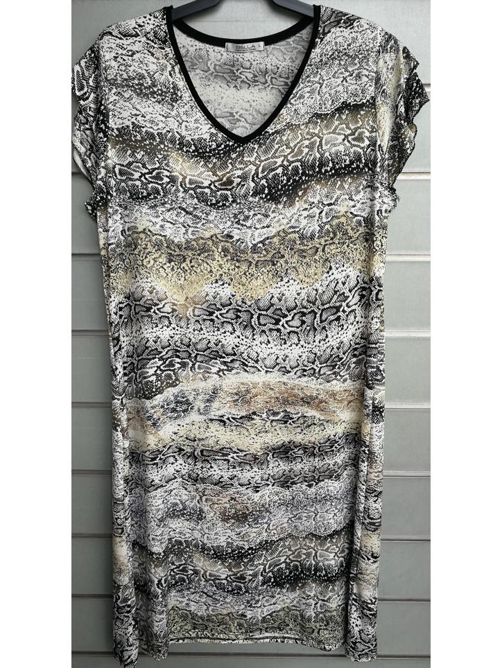 vestido doble manga v7004