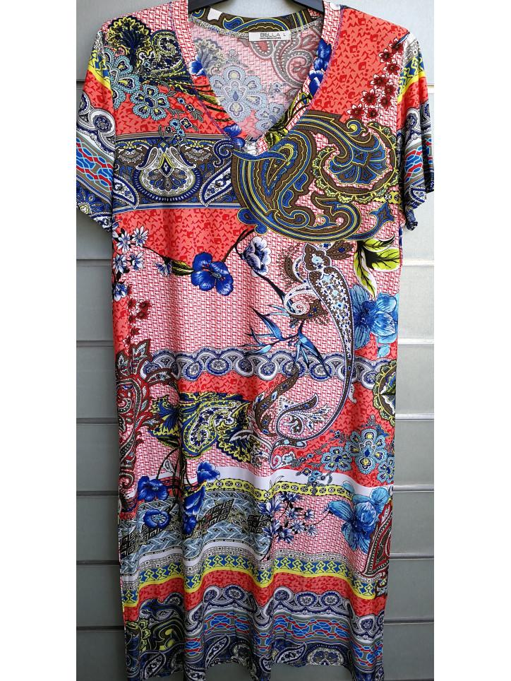 vestido cuello pico v7000