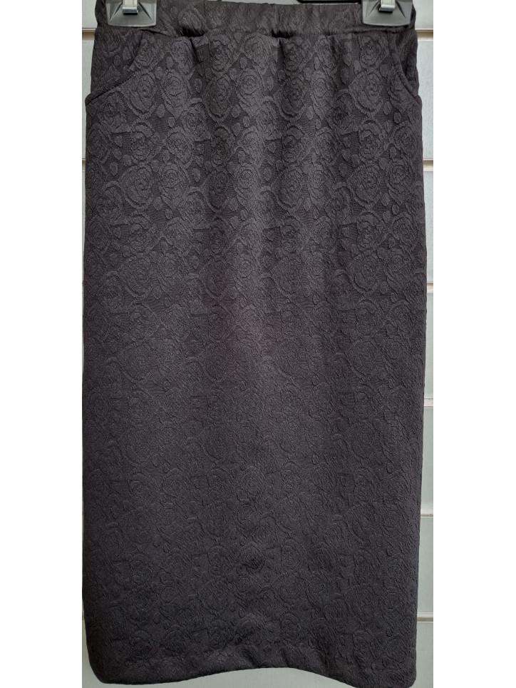falda bolsillos liso relieve