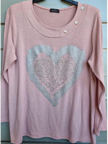 suéter punto corazón IV0802