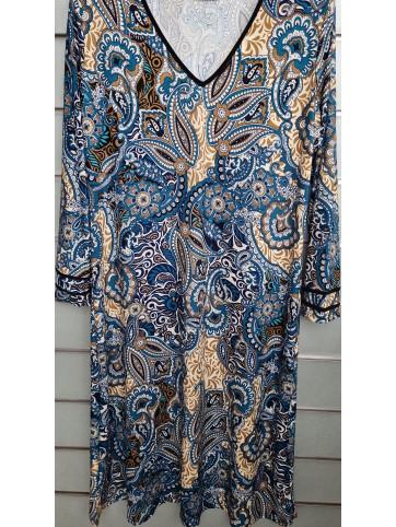 vestido ribete mangas v9000