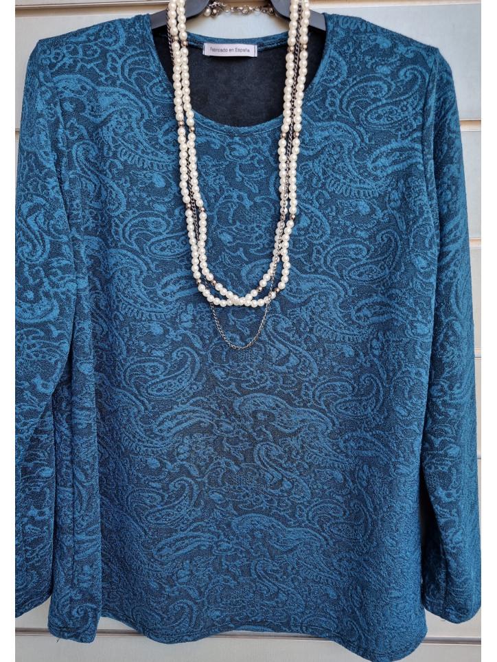 suéter relieve collar