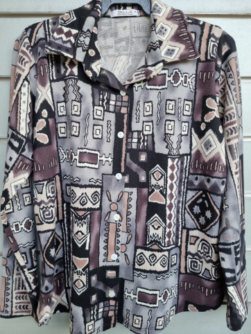 camisa botones lanilla