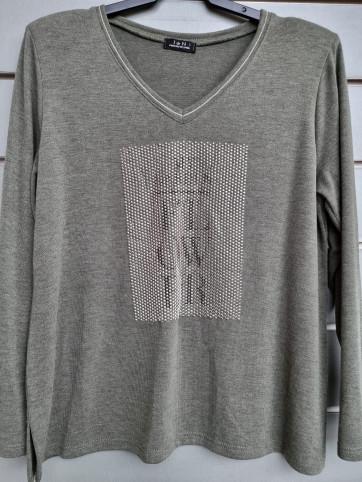suéter liso brillantes IV-0803