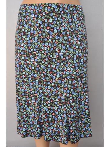 falda godet 10 quillas estampado