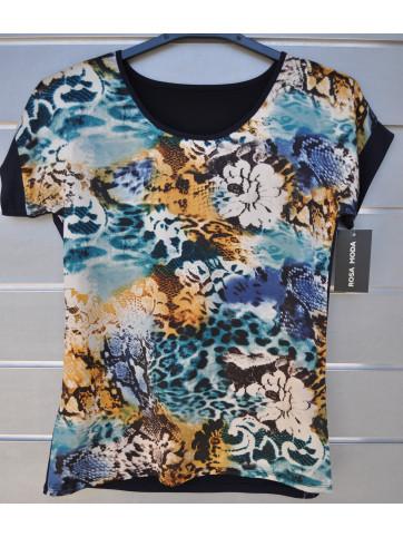 camiseta frontal estampado espalda liso