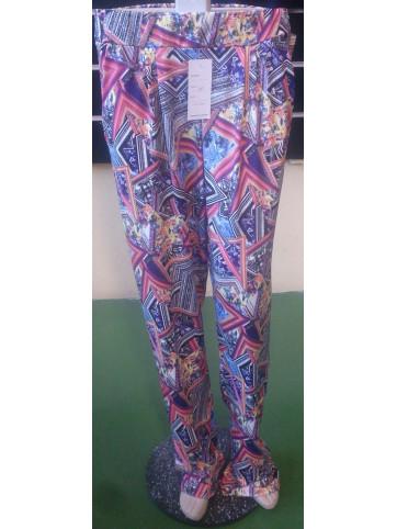 pantalon estampado con goma en la cintura y bolsillos modelo juvenil