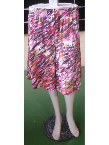 bermuda tipo falda estampada