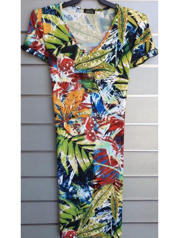 vestido doble manga v0166