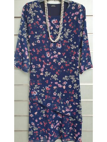 vestido gasa V-0522