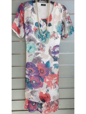 vestido gasa v0536