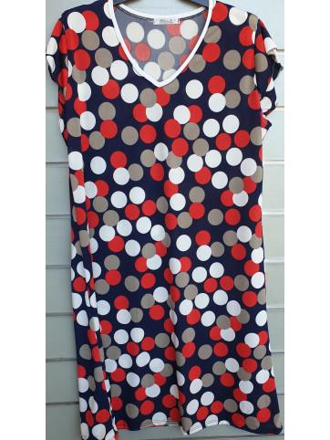 vestido manga doble v9001