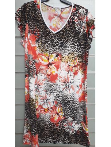 vestido doble manga v9002