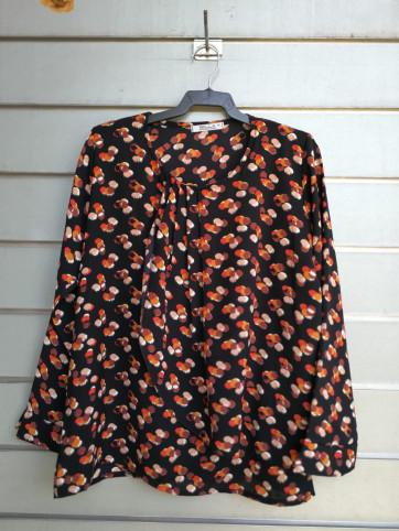 blusa pliegues viscosa