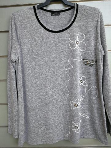 jersey delantero flores estampado 608/1