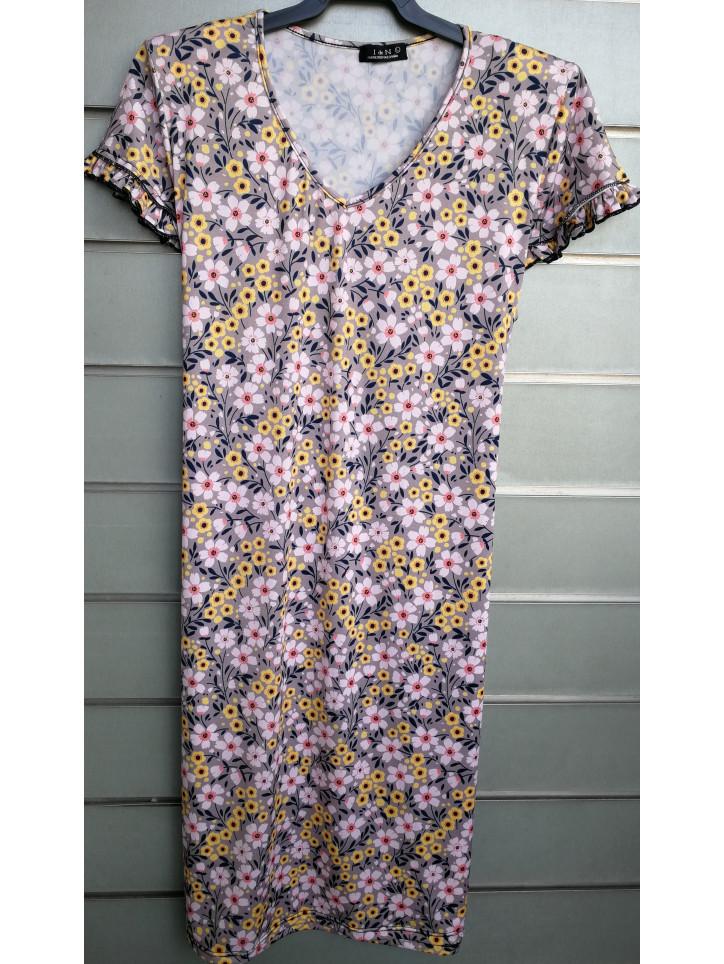 vestido pico doble manga