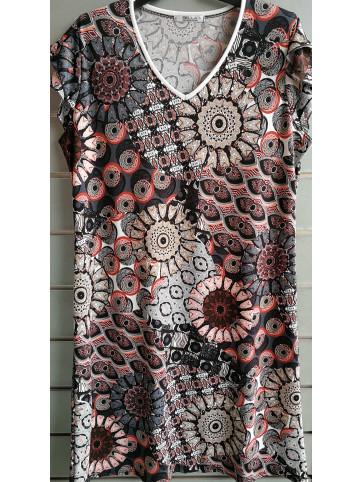 vestido doble manga v7000
